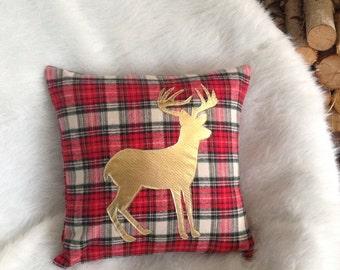 Holiday Pillow Covers, Pillow Covers 16 X 16, Pillow Covers 18 X 18, Christmas Pillow, Woodland Nursery Decor, Plaid Pillow, Metallic Pillow