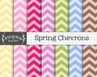 Pastel Chevron Digital Paper Pack, Digital Paper Easter, Instant Download, Commercial Use,Zig Zag Digital Background,Chevron Patterned Paper