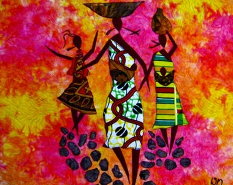 African Sunshine Art Quilts ready to Ship! As Seen On The Quilt Show!