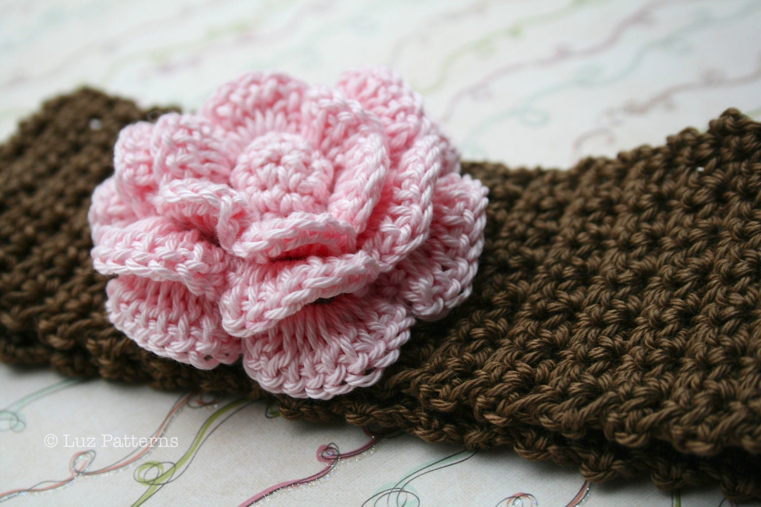 Crochet patterns, baby headband pattern, INSTANT DOWNLOAD crochet ...
