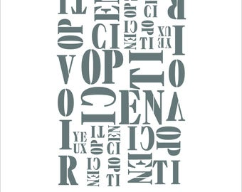 "Stencil ""Factory optician"" deco factory or industrial"