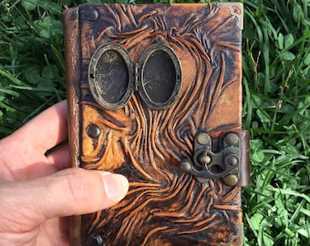 Leather Journal, Leather Notebook, Steampunk Journal, Travel Journal, Leather Diary