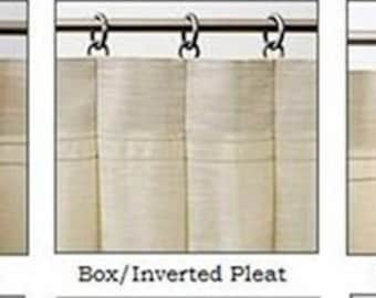 Add Pinch Pleats to Drapes or Curtain Panels for Valance or Draperies