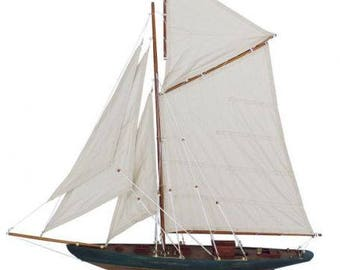 Large yacht, sailing ship, ship model sailing yacht wood 83 cm