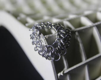 4 in 1  mini chainmaille ring