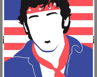 Bruce Springsteen The Boss Tea Towel