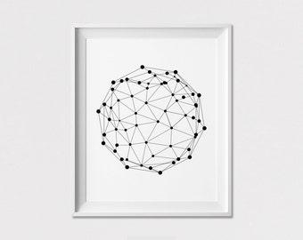 Minimal Print, Wall Art Poster, Black and White, housewarming gift, Home Decor, Geometric Print, Wall Decor, ArtFilesVicky