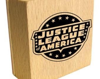 Justice League America Logo Rubber Stamp