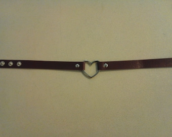 Purple Collar Necklace with Single Heart ring 249923