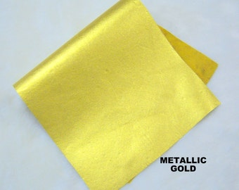 gold leather genuine leather piece  GOLD genuine  LEATHER, gold leather skins ,gold hide