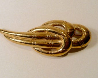 Vintage Givenchy Gold Tone Metal Brooch