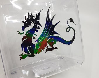 Holographic Dragon Vinyl Sticker