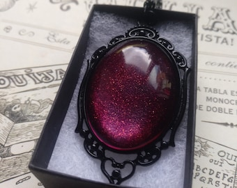 Twilight Sparkle Blood Gothic Necklace - Black gift box included