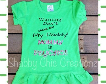 Dont check out my daddy mommy is psycho Daddy shirt Mommy shirt saying Mom Dad Psycho shirt