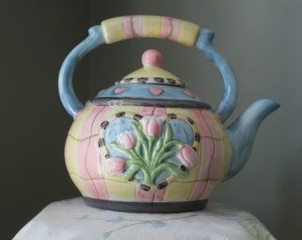 Debbie Mumm Collector Hand Painted Teapot by Sakura