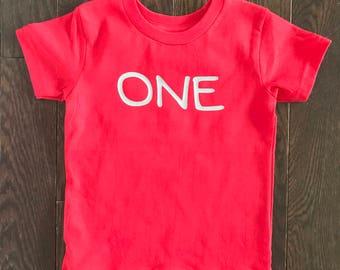 One Toddler Shirt