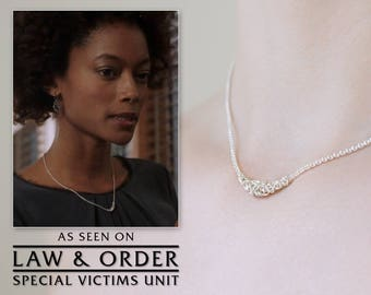 Silver Choker Necklace, Argentium Sterling Womens Elegant Byzantine Chainmaille, Simple Short Delicate, As Seen On TV: SVU, 15 16 17 18 inch