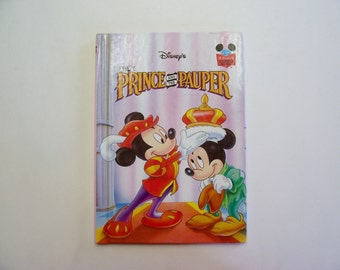 Disney's The Prince and the Pauper with Mickey Mouse Disney's Wonderful World of Reading Hardbound book, Children's Book, Story, Disney Book