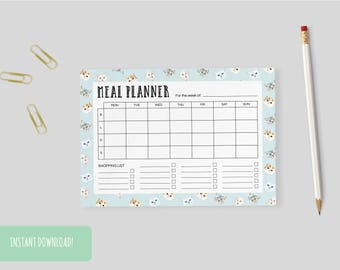 Meal Planner Cats (Limited Edition) Print A4 Interactive and Printable Files Included INSTANT DOWNLOAD