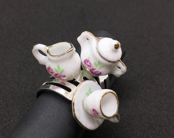 Purple Tea Set Ring