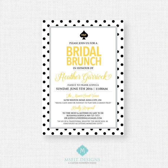 Printable Bridal Shower Invitation - Bridal Shower,  DIY, Printable, Polka Dot