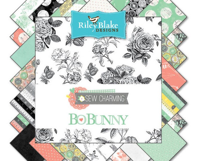 Sew Charming by Bo Bunny - 20 fat quarters quilting cotton fabric - Bundle set