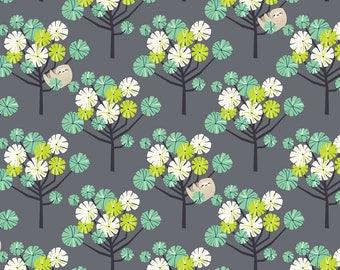 RAINFOREST SLUMBER  by Katy Tanis for Blend Fabrics Tree Dwellers Green
