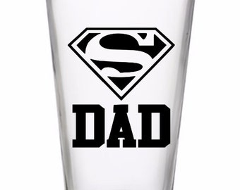 Super Dad Best Father Pint Glass Wine Alcohol Cup Barware Home Decor Bar Jenuine Crafts Valentines