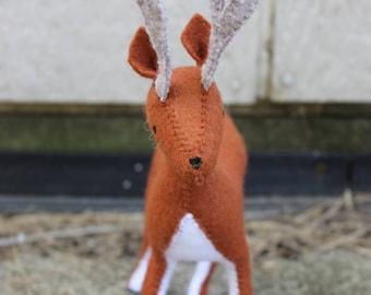 Felt Male Deer Plush