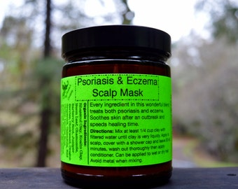 Organic Psoriasis & Eczema Scalp Mask- Vegan, High in minerals, great for hair!