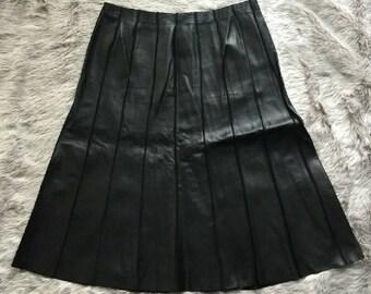 Vintage buttery soft leather designer skirt.