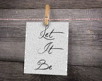 Let It Be Song Print