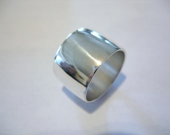 Big Wide Sterling Silver Band
