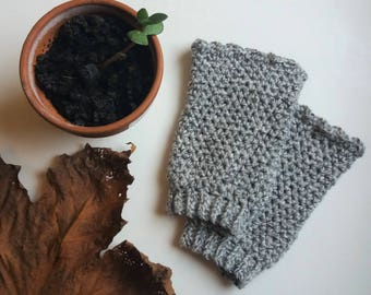 Stonewashed Cuffs - Crochet Pattern for Wrist Warmers - Instant Download PDF