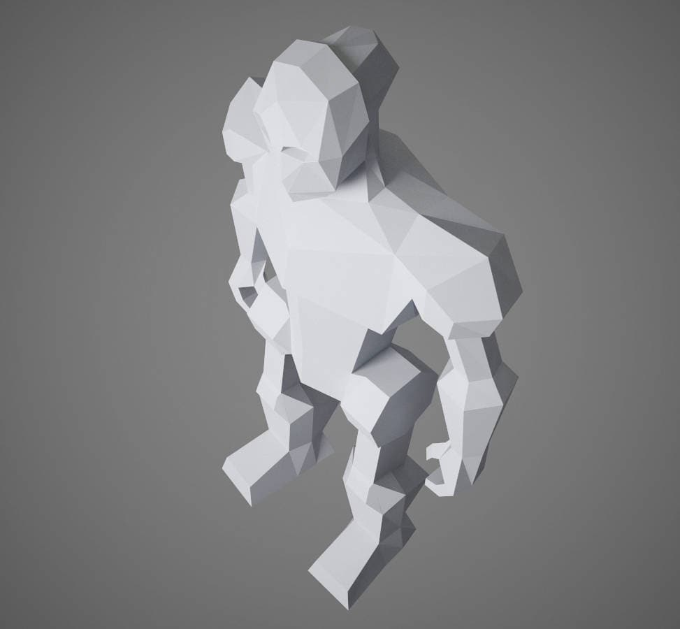 Papercraft robot 3d paper craft diy paper sculpture paper model this is a digital file solutioingenieria Images