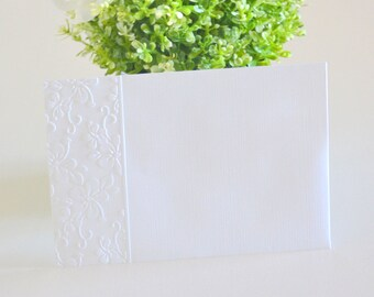 A7 Envelopes 10 Pack, Wedding Envelopes 5 x7, 5x7 Envelopes, White DIY Embossed Invitation Envelopes, Hibiscus Flower, Beach Weddings