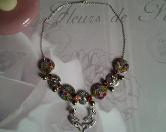 Necklace multicolor tribal trend