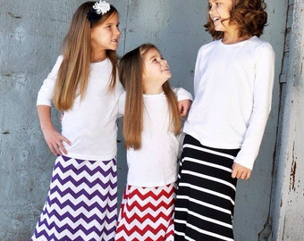 Maxi Skirt Toddler, Maxi Skirt Girl, Maxi skirt, Maxi Skirt Long, Little Girl Tween - Pick Your Color