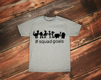 Toy Story Squad Goals Tee, Toy Story Birthday, Disney Shirts, Toddler Disney Shirt, Matching Disney Shirts, Baby Boy, Woody, Buzz, Universal