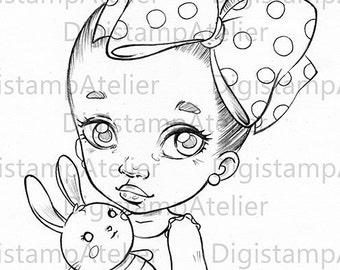 Baby Bunny. INSTANT DOWNLOAD Digital Digi Stamps.