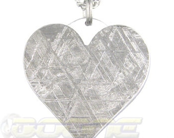 Meteorite Heart Pendant