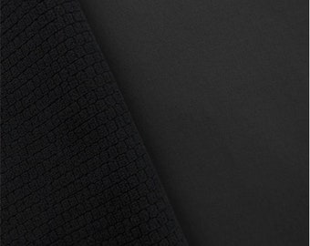 Soft Shell Grid Fleece Ash Gray, Fabric By The Yard