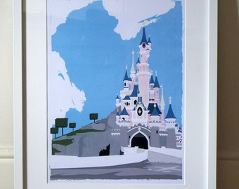Disneyland Paris - Sleeping Beauty's Castle - A3 Poster