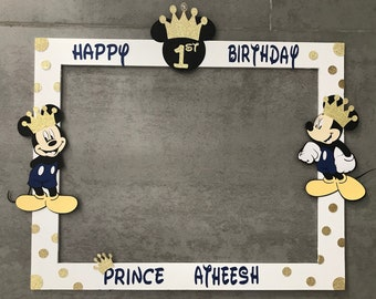 Mickey Mouse Prince Photo Booth Frame, Mickey Mouse Photo Booth Frame,
