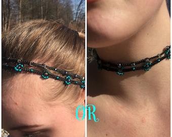 Necklace or headband 2 pieces