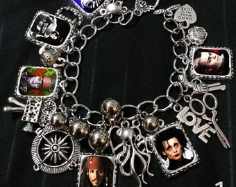 Johnny Depp Time Machine Charm Bracelet Necklace