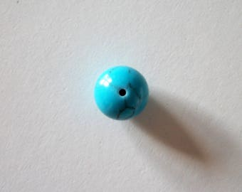 Large round turquoise beads 12 mm