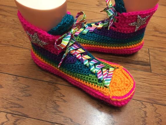 e6761cc64770 ... high slippers top converse slippers top high slippers 10 shoe 150 Women converse  converse Crocheted crochet ...