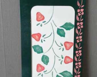 strawberry border stencil country style