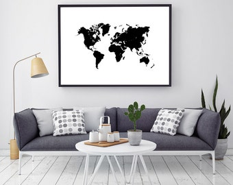 2018 wall calendar calendario 2018 2018 desk calendar black and white large printable world map poster world map canvas wall art push gumiabroncs Choice Image